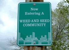 WeedAndSeed sign